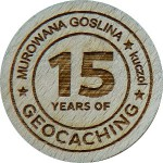 15 years of Geocaching Murowana Goślina