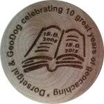 Dorsetgal & Geodog celebrating 10 great years of geocaching