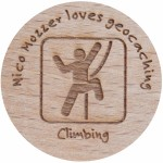 Nico Mozzer loves geocaching - Climbing