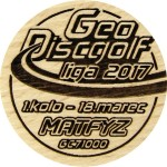 GeoDiscgolf liga 2017 - 1.kolo