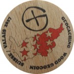 GEOCACHING WOOD GEOCOIN SUISSE / VALAIS 2017