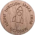 flight through space