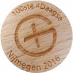 100ste 4Daagse Nijmegen 2016 met Geocaching Logo