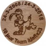 24-3-2008 / 24-3-2018 10 jaar Team Idefix33