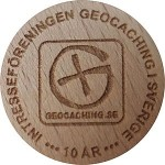 INTRESSEFORENINGER GEOCACHING ISVERIGE 10 AR