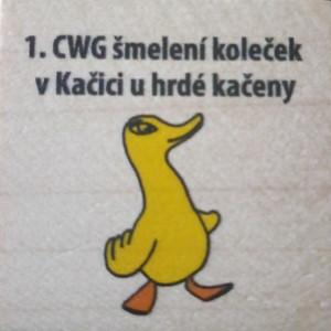 1. CWG šmelení koleček