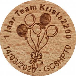 1 jaar Team Krista2200