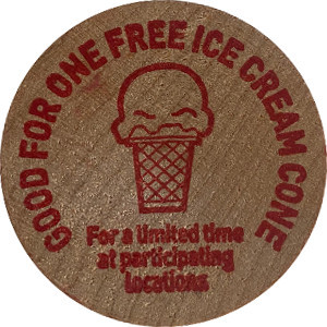GOOD FOR ONE FREE ICE CREAM CONE