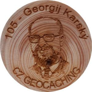 105 - Georgij Karský