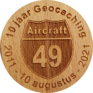 10 jaar Geocaching Aircraft49