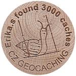 Erika.s found 3000 caches